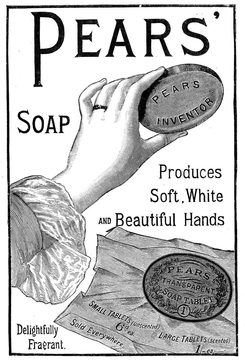 Pears' Soap advertisement 1886 - Pears (soap) - Wikipedia ...