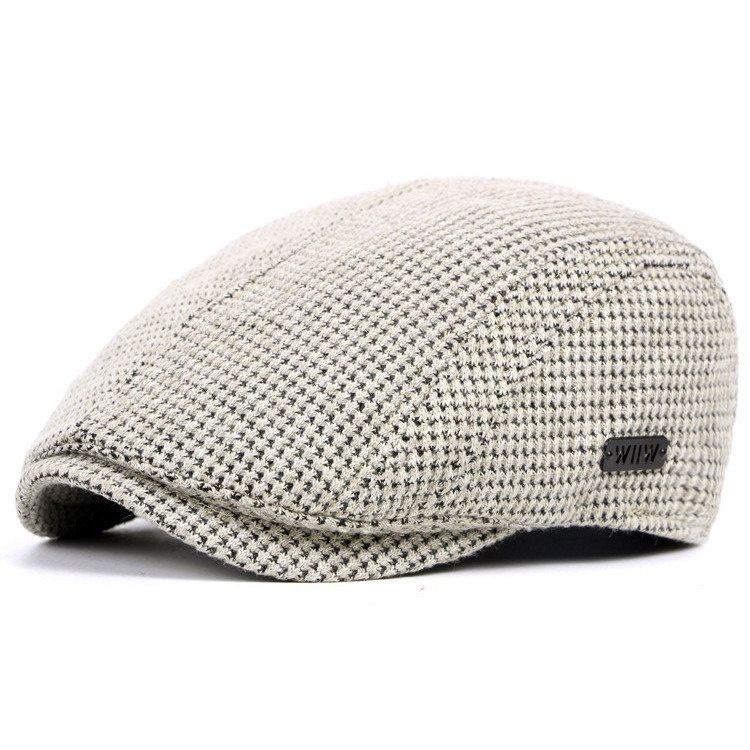 Mens Cotton Gatsby Flat Beret Cap Ivy Hat Golf Hunting Driving Cabbie Hat f041cffd2a6