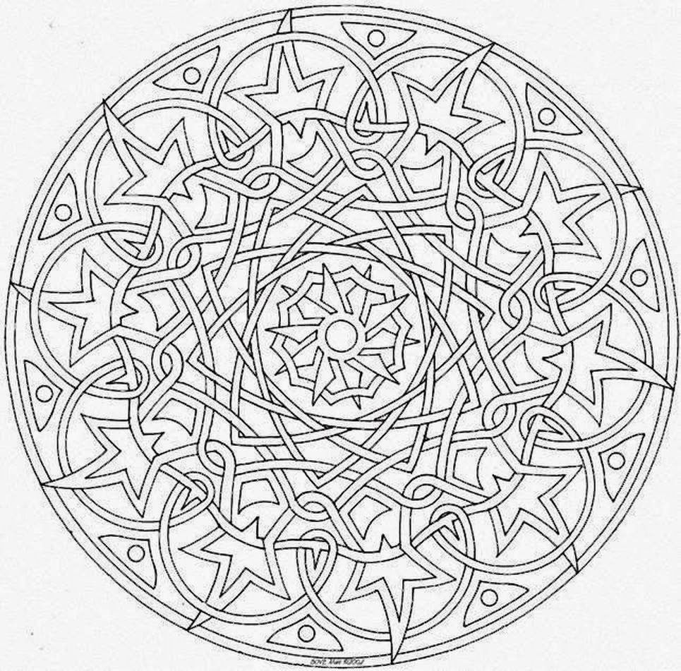 Jewish mandala coloring pages - Coloring Pages Special Mandala Picture Drawing Printable And Coloring