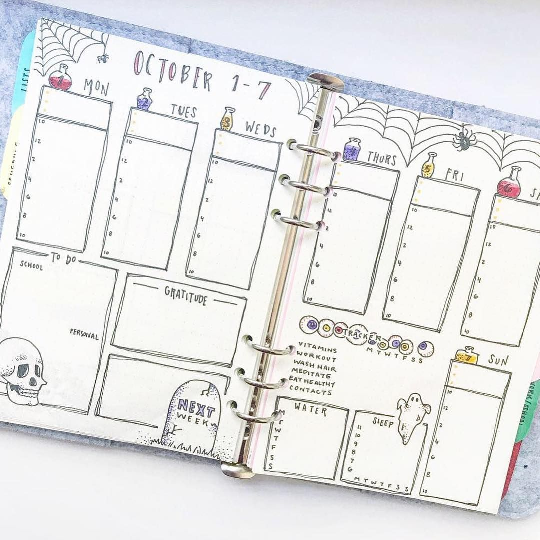 Spooky Halloween Bullet Journal Ideas — Sweet PlanIt #halloweenbulletjournal