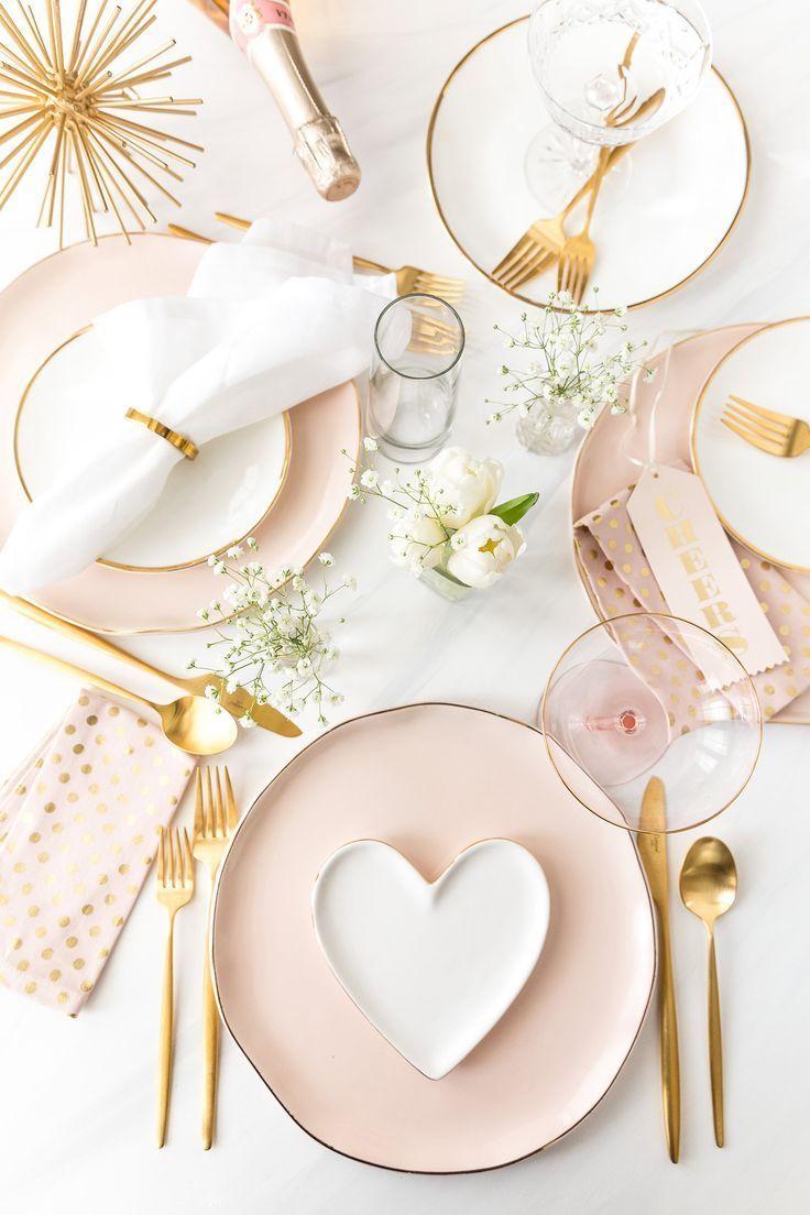 Valentine's Day Tablescape: 3 Ways #gedecktertisch
