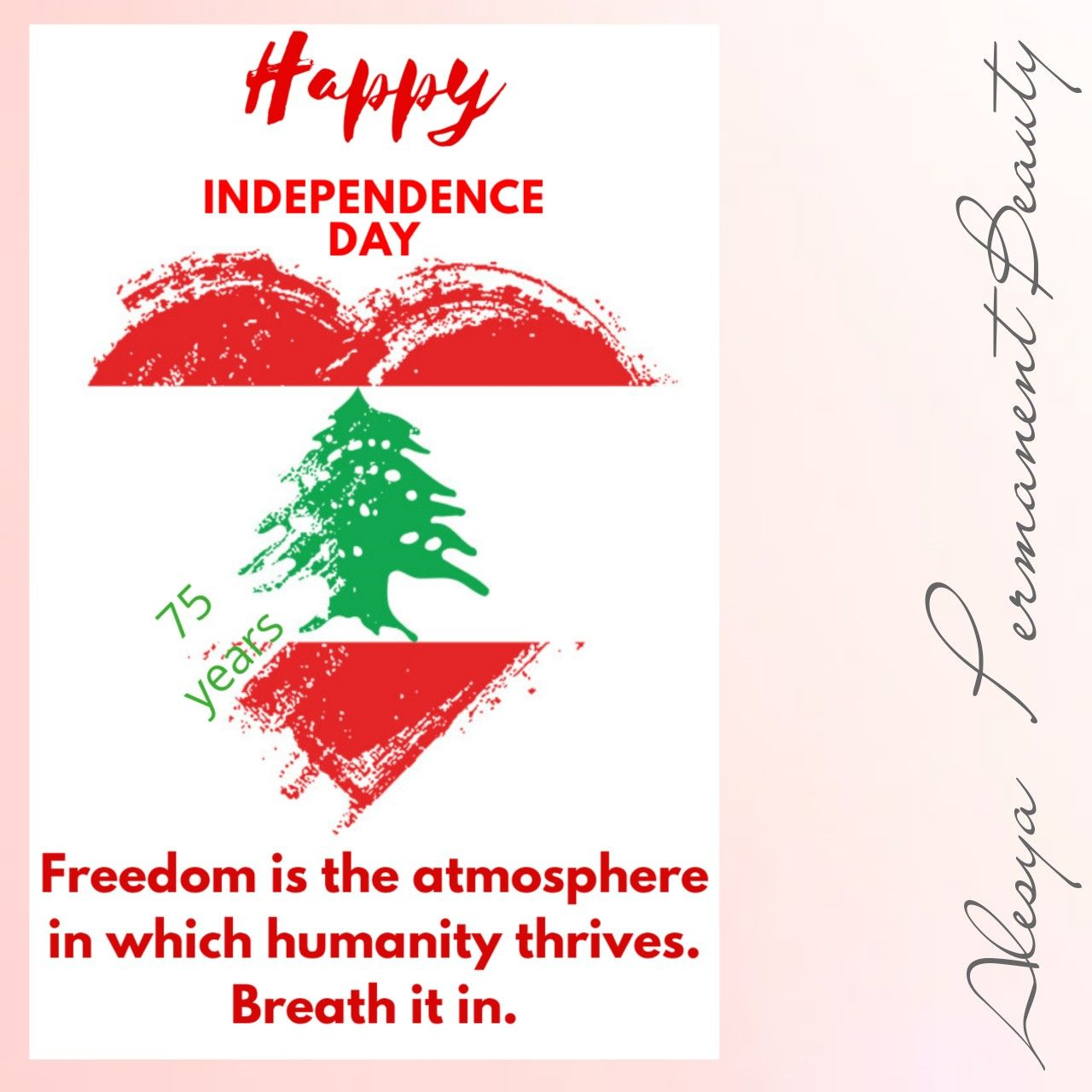 Happy Independence Day My Lebanon Alesya Spmu