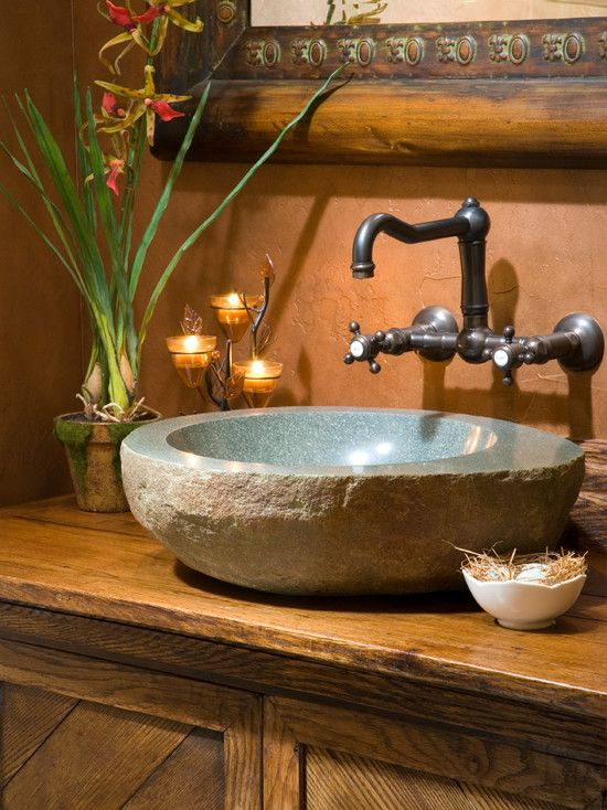 Enhancing Natural Look For Bathroom Design With Stunning Stone