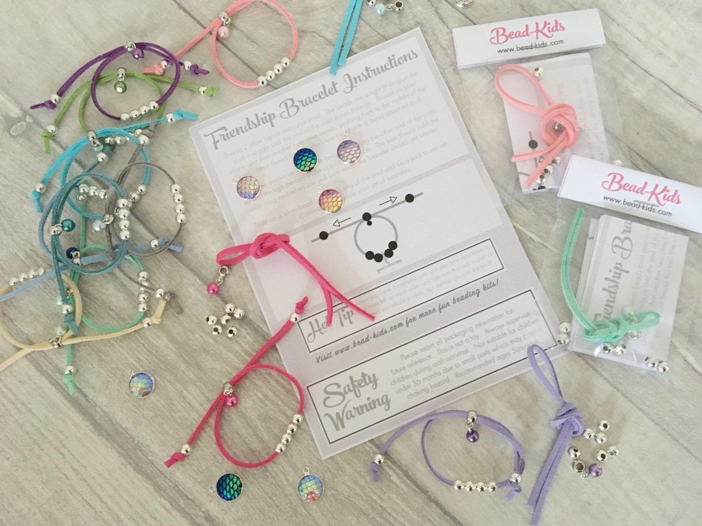 Diy mermaid friendship bracelet kit girls bracelet party bag