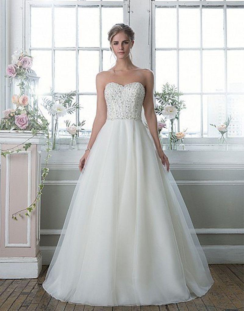 Plus size tulle wedding dress  Juliana Luxury Crystal ALine Wedding Dresses  With Beading
