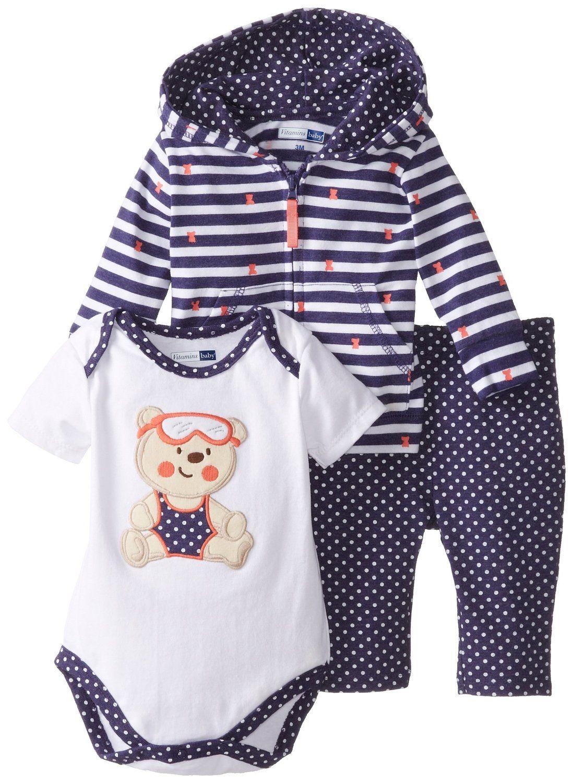 cee48865a952e Amazon.com: Vitamins Baby Baby-Girls Newborn Happy Bear 3 Piece ...