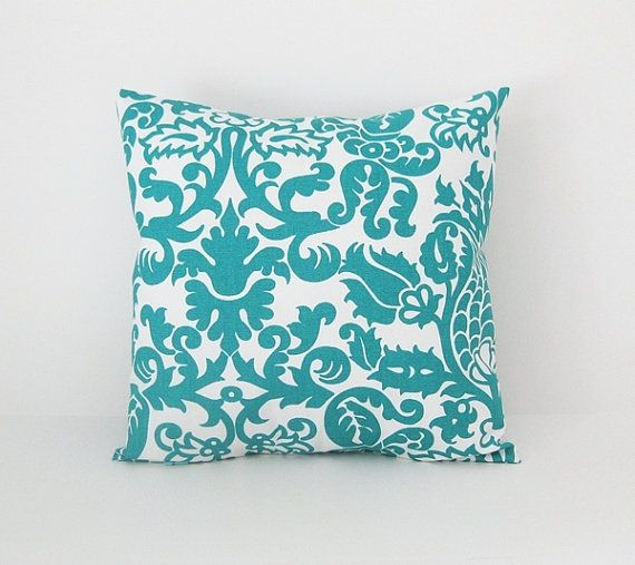 throw teal color solid linen pillow decorative cover turquoise pillows blue green