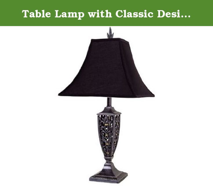 Table Lamp with Classic Design Sh80028bk. some assembly maybe required.