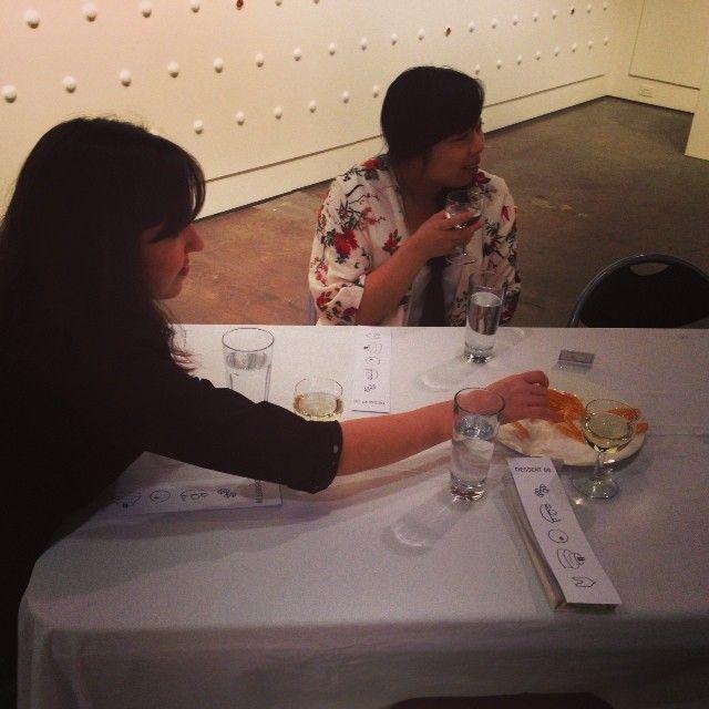 #sugarsugar curator #MeganFizell tasting one of the #rosettecookies for the #Dessert(II) dinner
