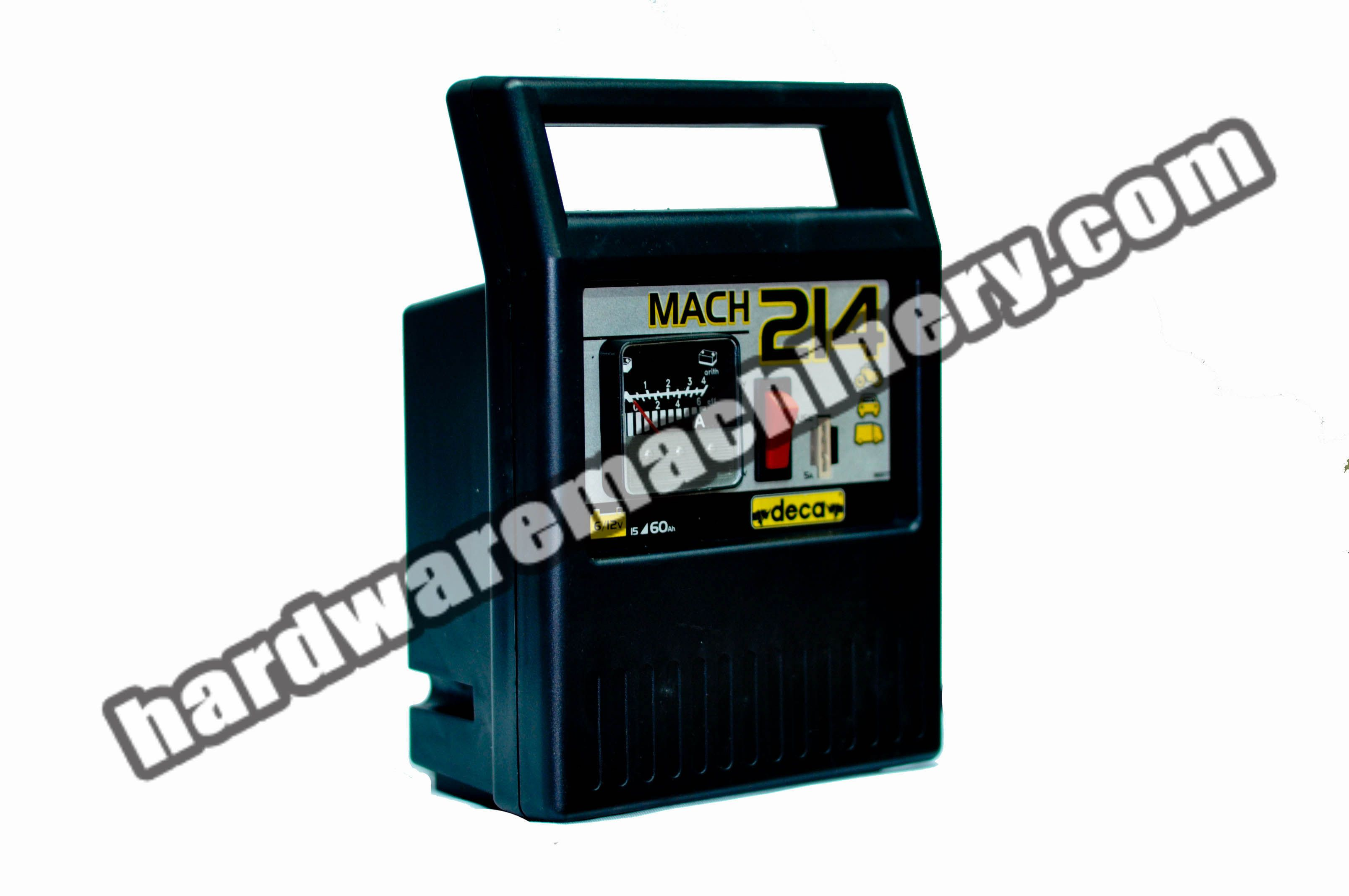 Deca Mach 214 Battery Charger for 6V, 12V battery