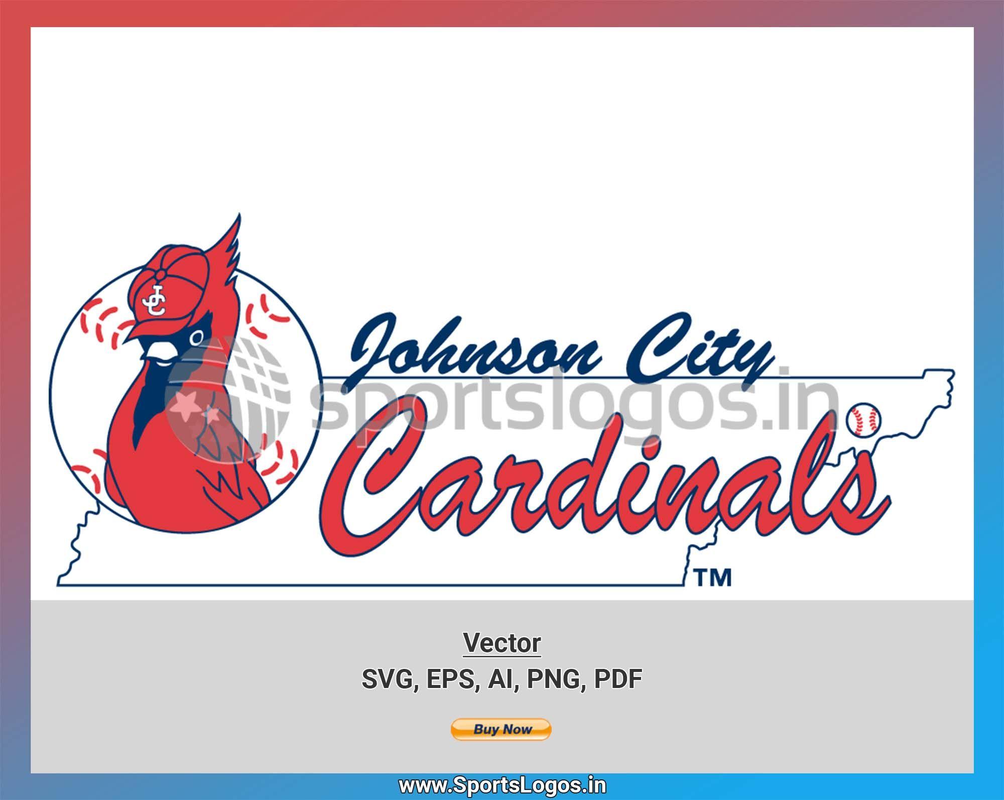 Johnson City Cardinals Baseball Sports Vector SVG Logo