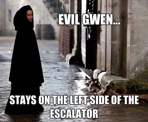 """Evil Gwen"" meme #MerlinMonday"