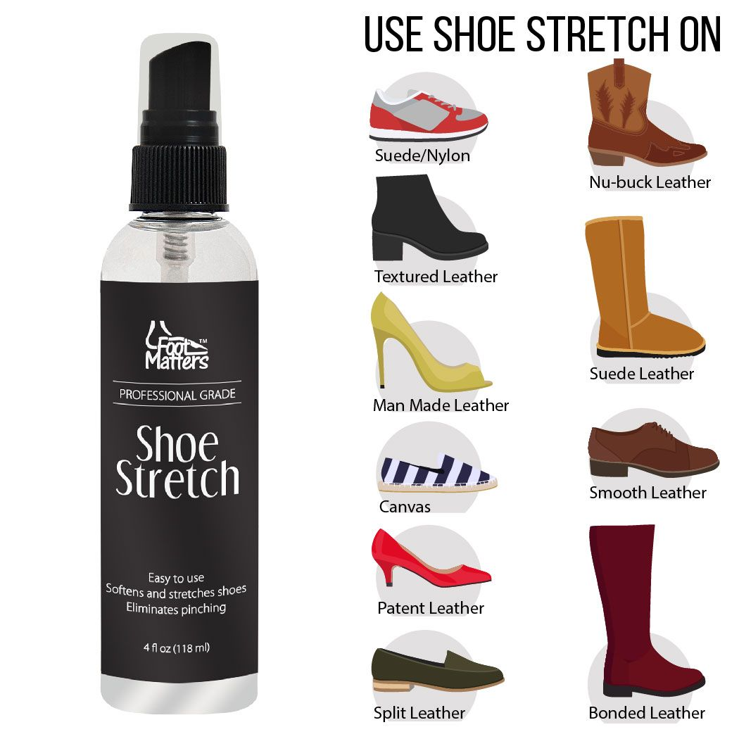 Shoe Stretch Spray How To Stretch Shoes Stretch Leather Boots Shoe Stretcher