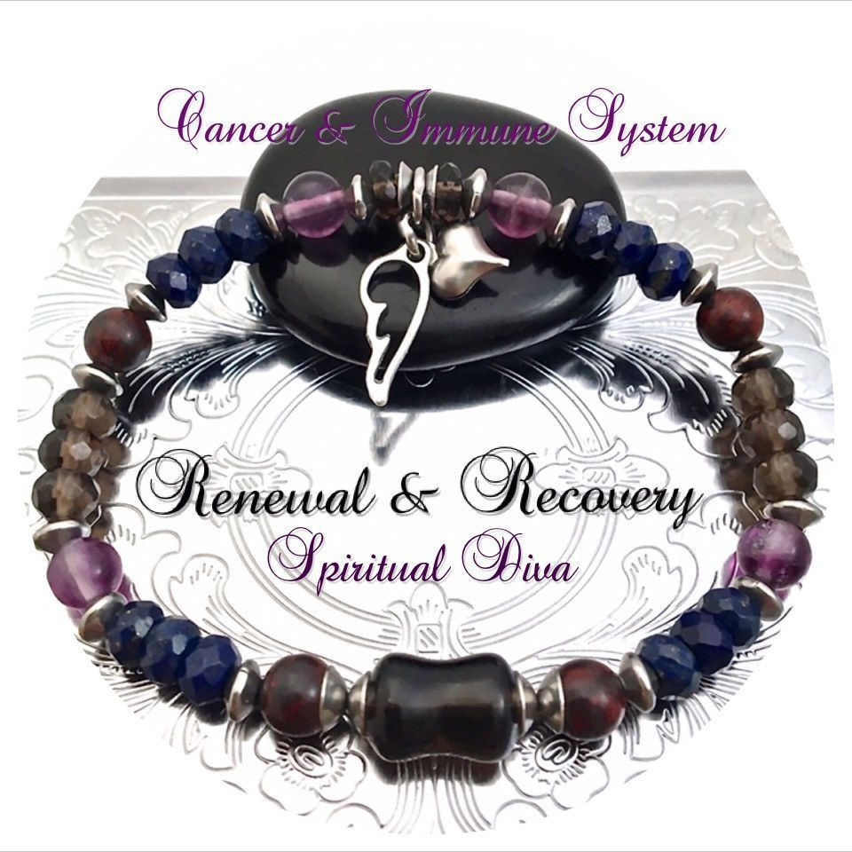 Cancer Immune System Recovery Healing Crystal Reiki Angel Bracelet Chakra Crystals