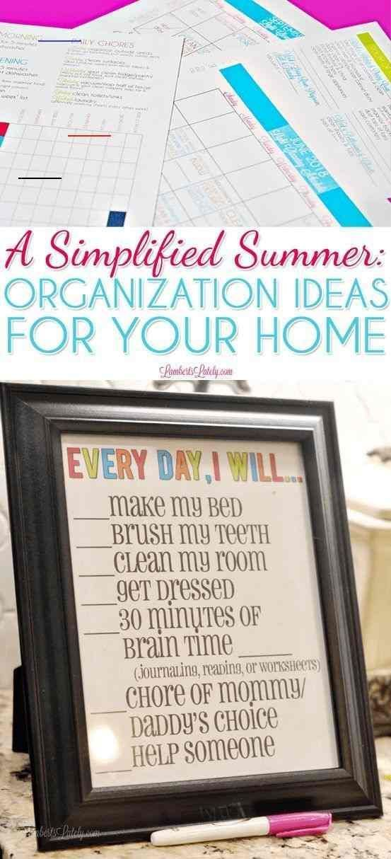 Summer Routine Kids ` Summer Routine #summerhomeorganization
