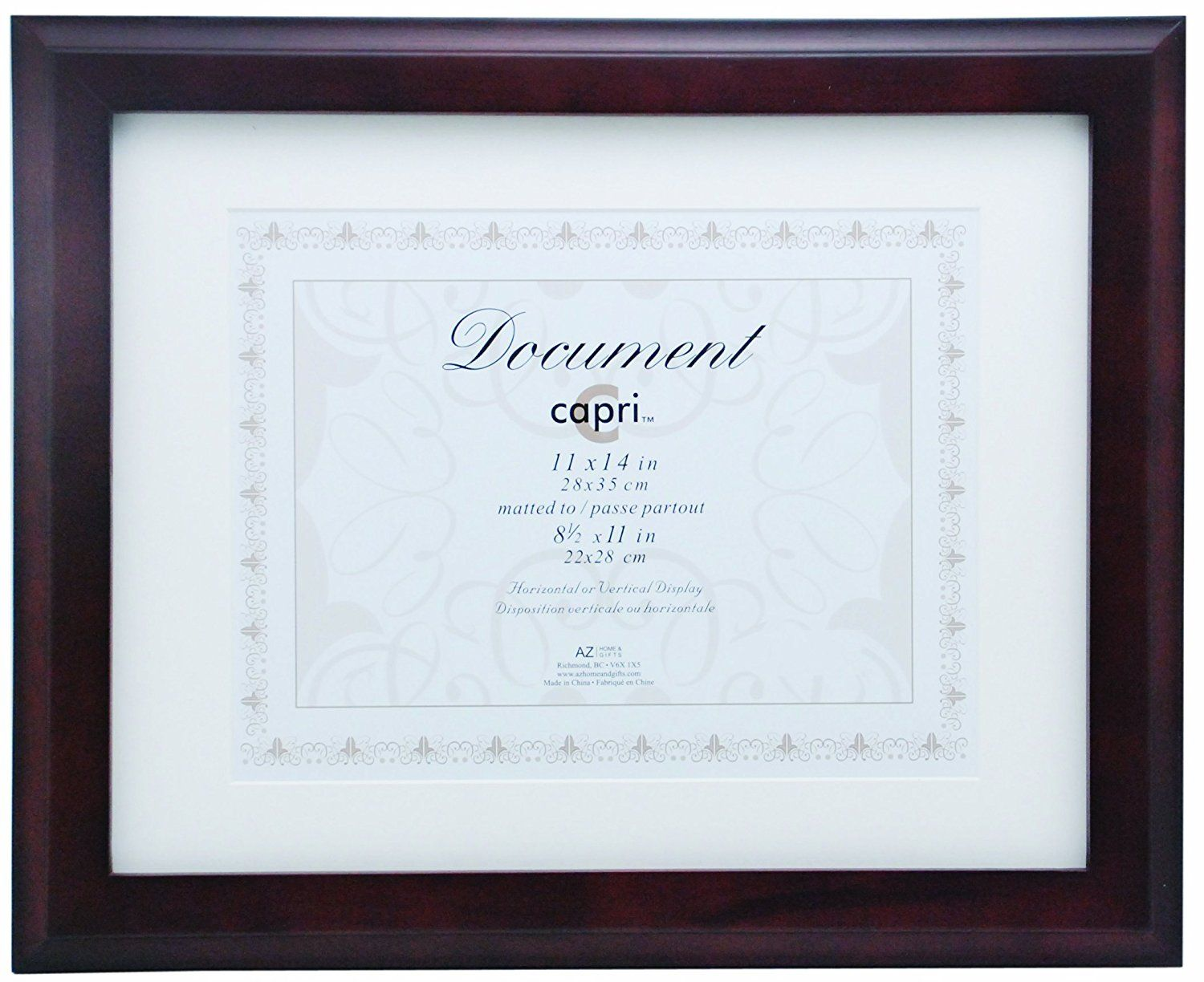 Kiera Grace Oxford Wood Document Frame 11 By 14 Inch Matted To 8 5 By 11 Inch Espresso More Info Could Be Found At T Document Frame Frame Picture Frames