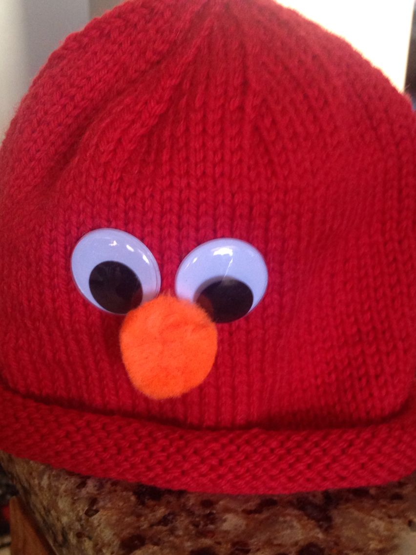 Knitted elmo hat basic roll up hat pattern add wiggly eyes and knitted elmo hat basic roll up hat pattern add wiggly eyes and furry pompom bankloansurffo Gallery