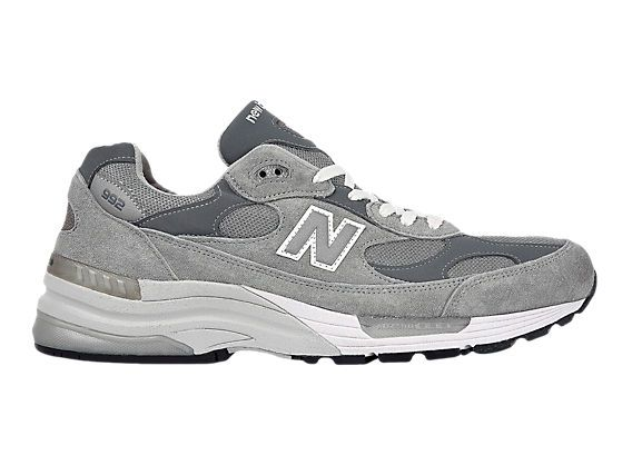 gray and white new balance shoes