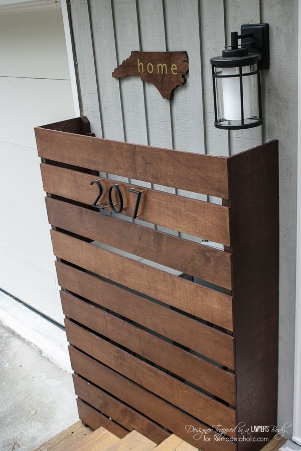 Remodelaholic Diy Wood Screen To Hide Utility Boxes Wood Screens Utility Box Wood Diy