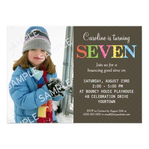 nice 7th Birthday Party Invitation Wording – 7 Year Old Birthday Invitation Wording