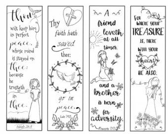 Bible Bookmarks To Print And Color