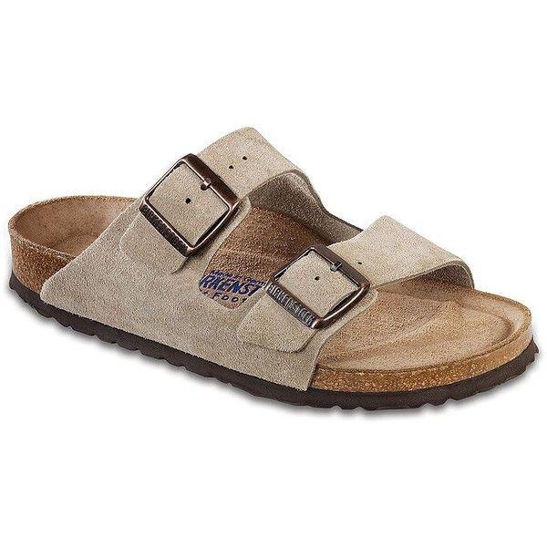 90764c35973e Women s Birkenstock Arizona Suede Double-Strap Sandals Taupe 5N - Polyvore