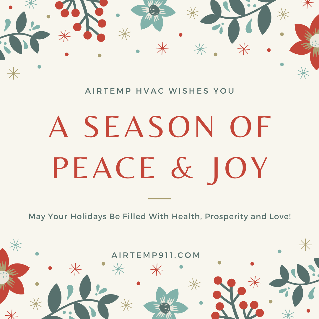 Happy Holidays From Your Pals At Airtemp Hvac Holiday