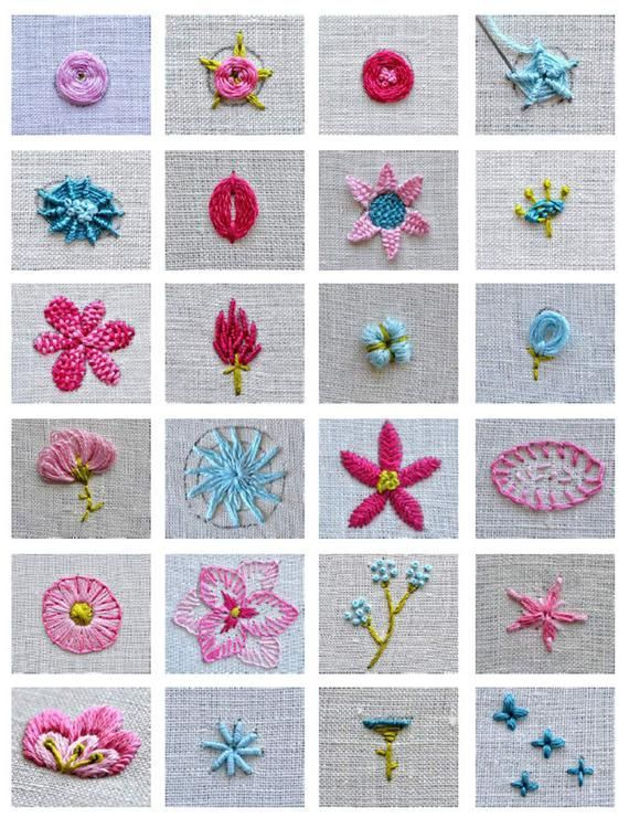 Photo of 24 Learn to Embroider Flowers Ebook – Tutorial Embroidery Instructions – Embroidery Book PDF