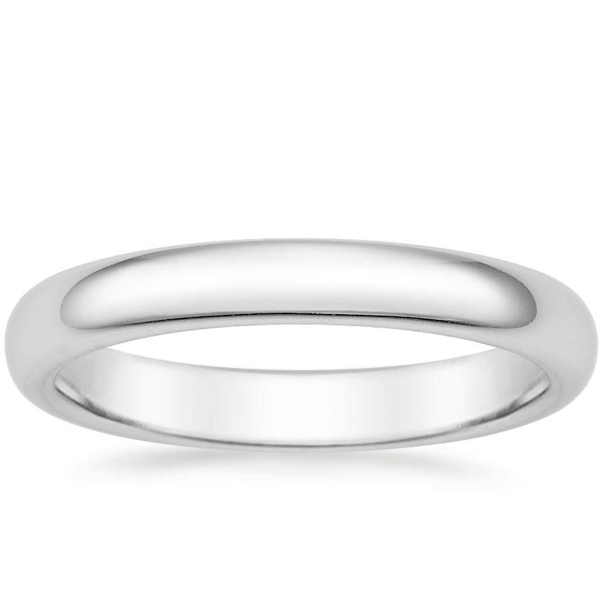 Platinum 3mm Comfort Fit Wedding Ring Comfort Fit Wedding Ring Mens Wedding Rings White Gold Classic Wedding Rings