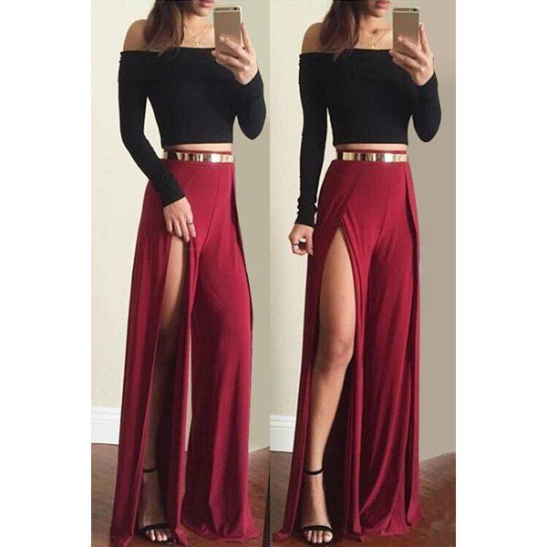 cropped top   maxi skirt | prom/dresses | Pinterest | Maxi skirts ...