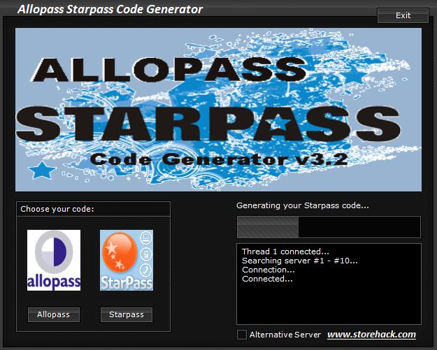 allopass generateur v1 2009