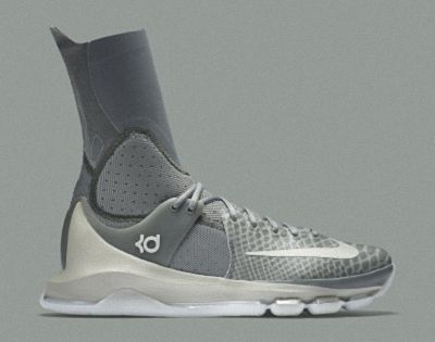 d8b582854ea Nike KD 8 Elite Neutral Tumbled Grey Vivid Orange Lunar Grey 834185 ...