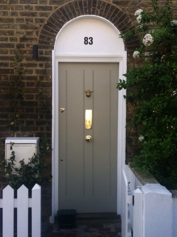 Check out this beautiful solid front door sporting flush for Flush front door