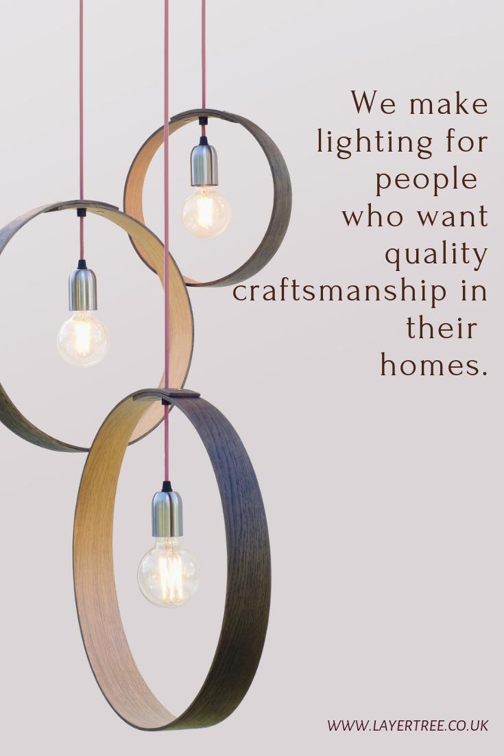 Handmade Lighting Pendant Oak Lights