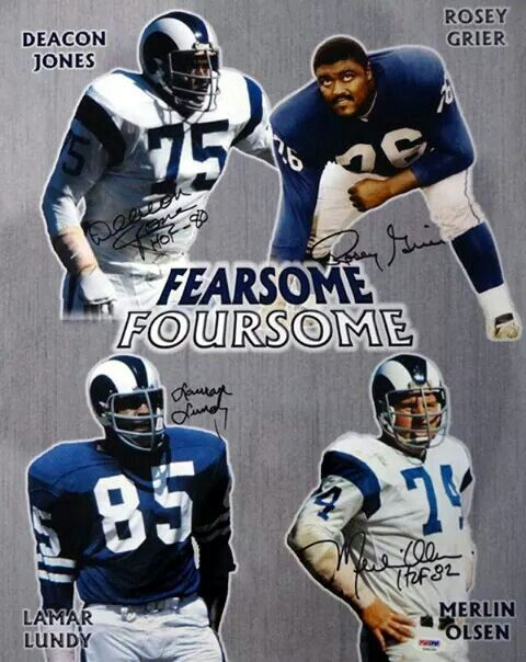 49e0880a357 Los Angeles Rams- Fearsome Foursome. 1970's   NFL - NFC West   Nfl ...