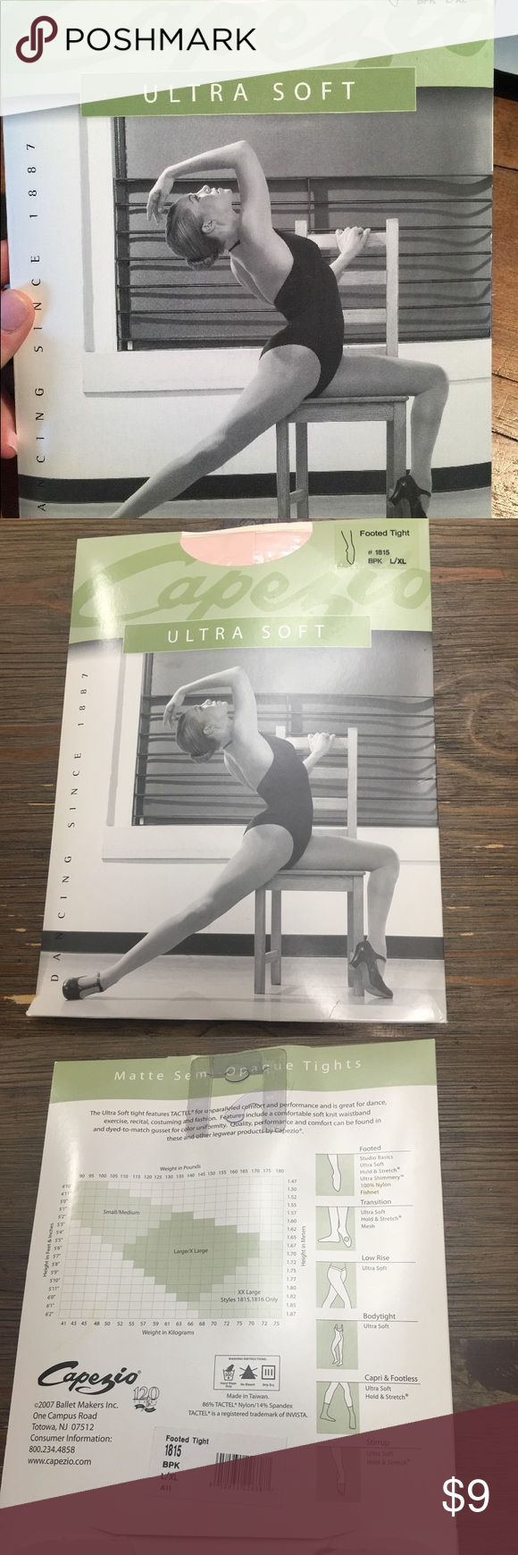 L//XL XXL Capezio Ultra Soft Footed Tights for Women New Style 1815 S//M