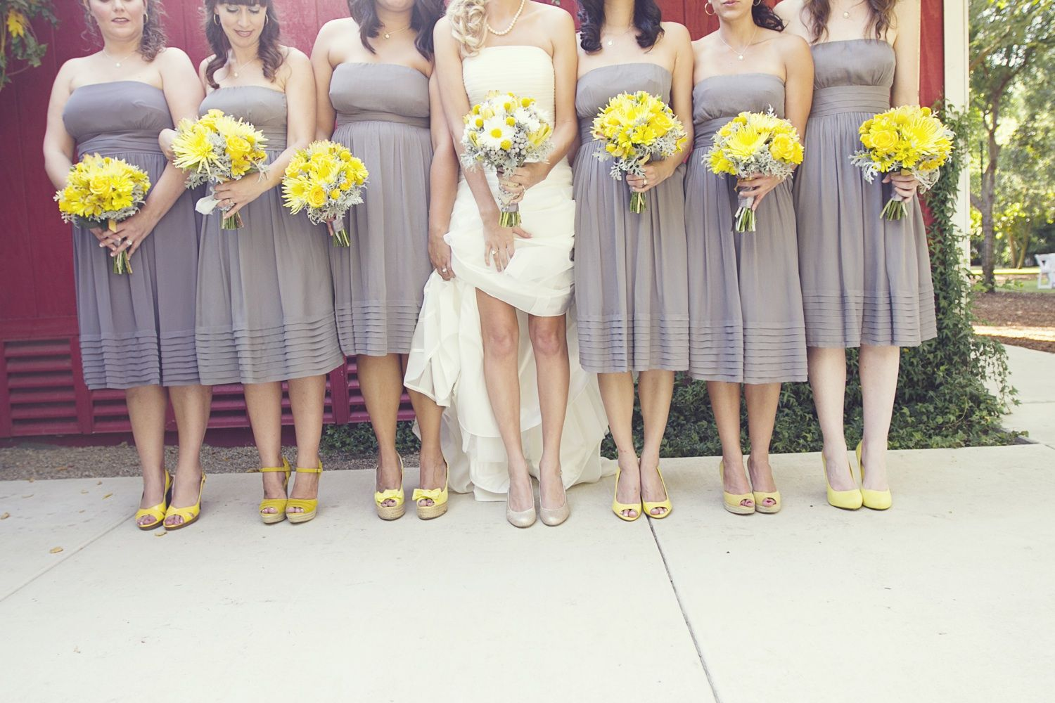 Google image result for httpwedding pictures 03wed real fall wedding september grey bridesmaids dresses but with purple instead ombrellifo Choice Image