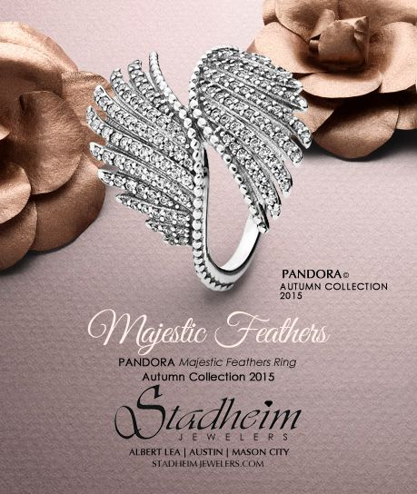 Pandora Majestic Feathers Ring - Autumn Collection 2015