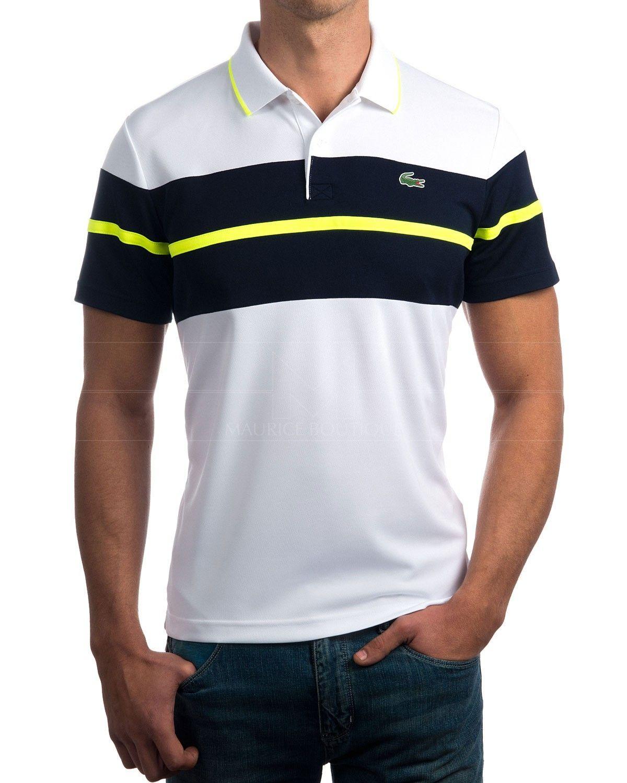 3fa9fe1c47eec Polos Lacoste Polos Lacoste blancos Polos Lacoste con logo engomado Lacoste  Clothing