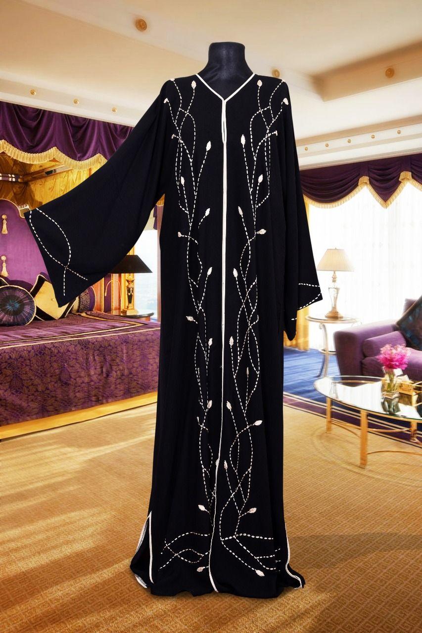 Black Zigzag Abaya Zammilooni Abaya Fashion Fashion New Abaya Style