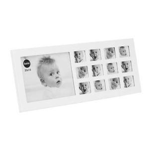 Bébé ma première année cadre photo en bois blanc multi cadres pour 12 mois | eBay