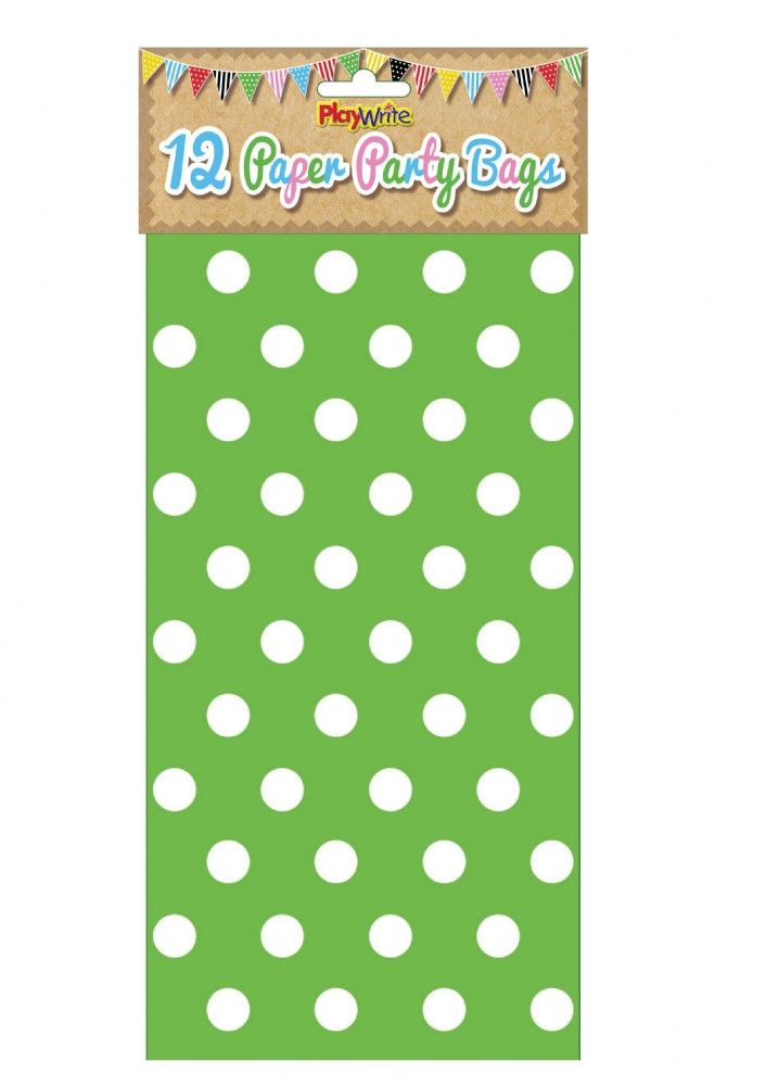 Green Polka Dot Paper Party Bags Shop Now extrabits.co.uk