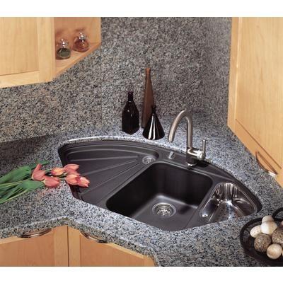 Blanco Silgranit Natural Granite Corner Style Topmount Sink Anthracite Home Depot Canada Iç Tasarım Mutfak Lavabolar Mutfak Düzenleme