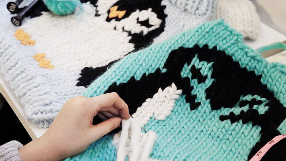 Customise your jumper with a penguin using the duplicate stitch ...