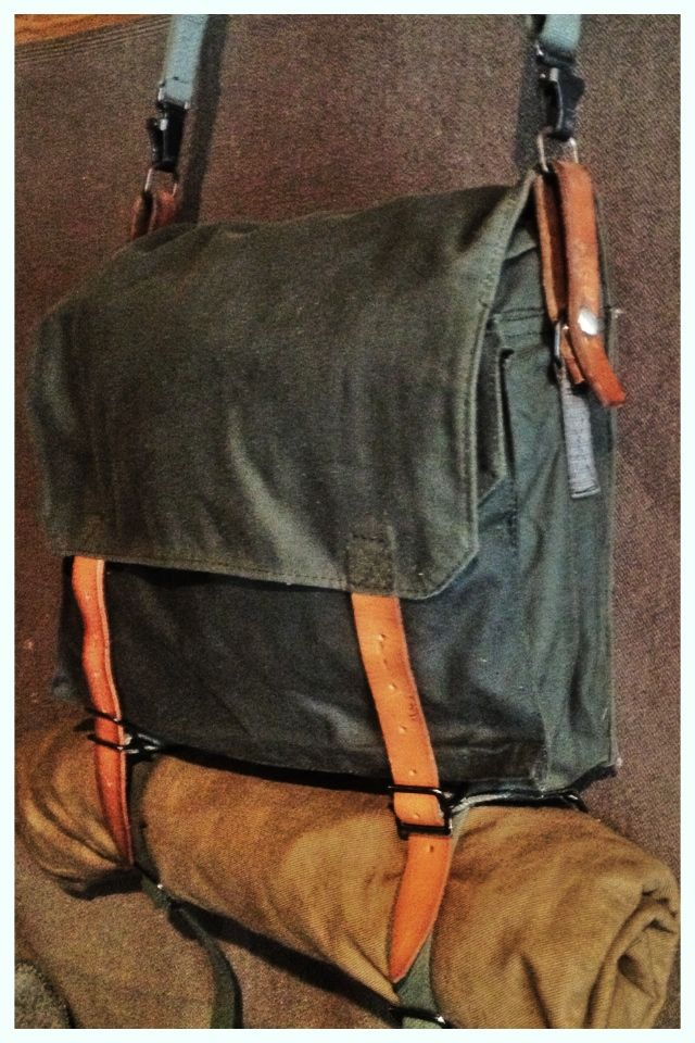 Classic Waxed Cotton Haversack Bushcraft Leather