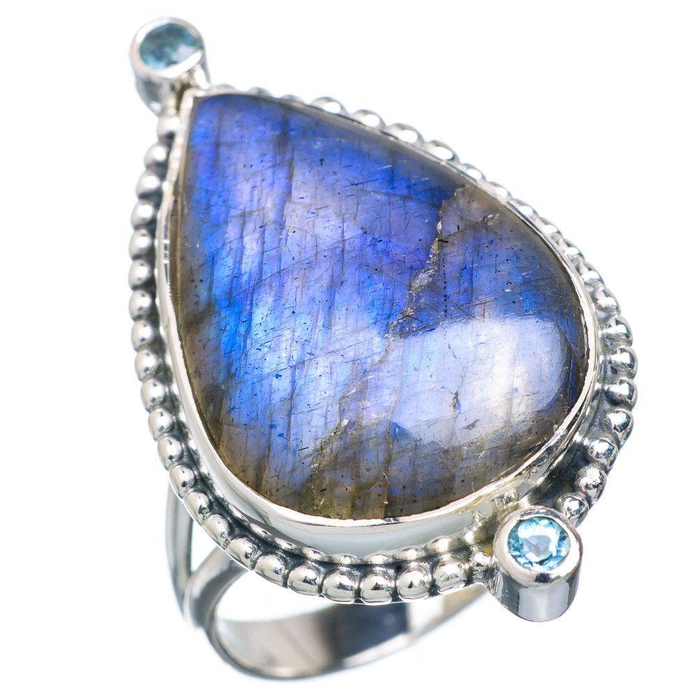 Labradorite 925 Sterling Silver Ring Size 8 RING716445