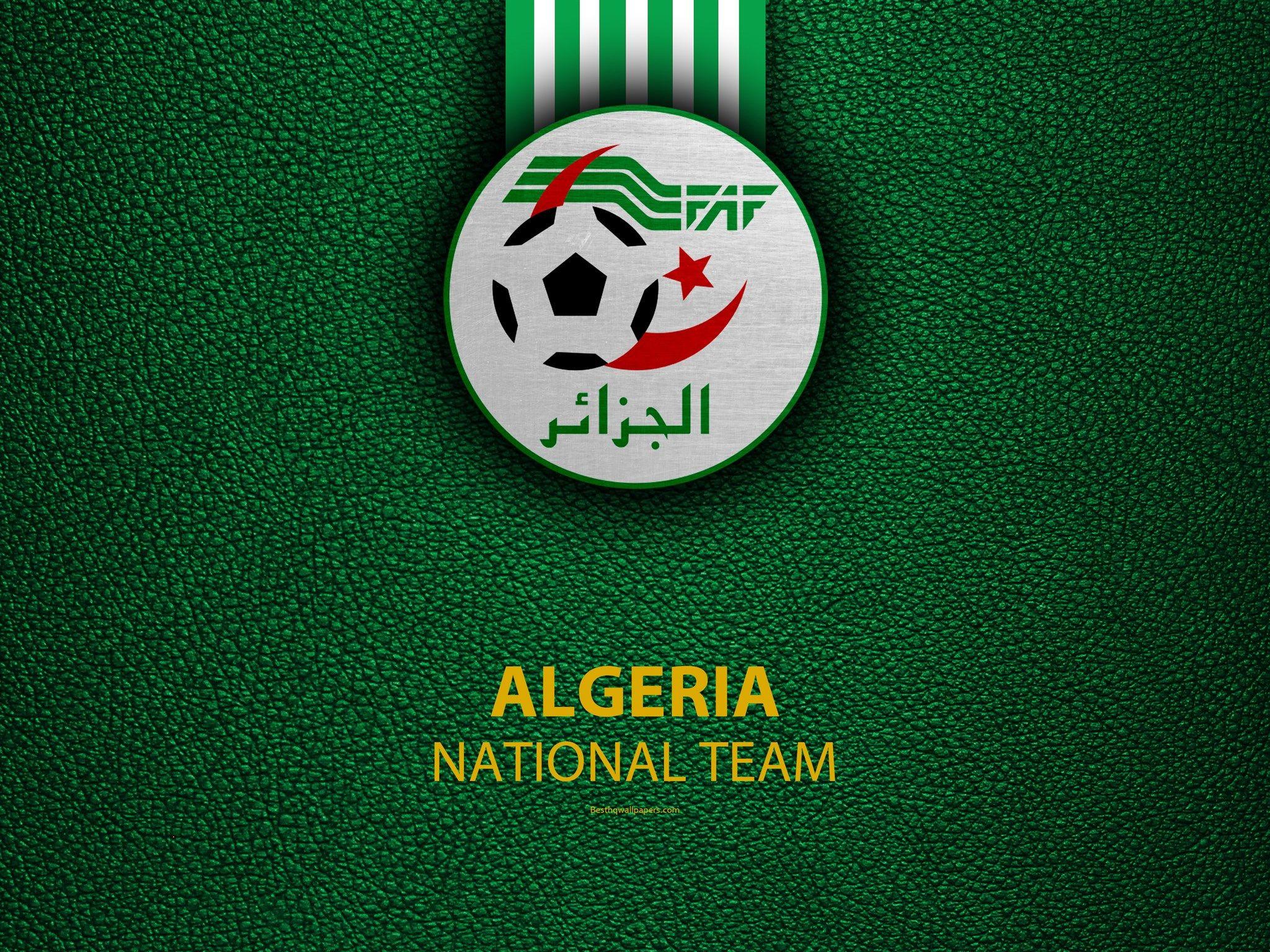 الجزائر الفريق الوطني لكرة القدم 4k جلدية الملمس أفريقيا الجزائرية لكرة القدم شعار الجزائر National Football Teams Football Team Logos National Football