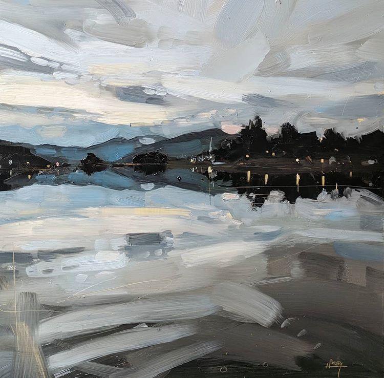 Windermere Oilpainting Oilonboard Oils Landscapepainting Landscape Painting Lakedistrict Cumb Reflection Art Landscape Art Landscape Drawings