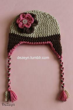 crochet baby hat -met patroon