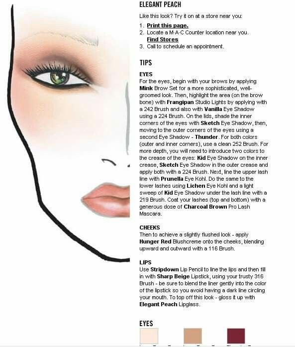 Elegant Makeup Color Chart 17 best images about face paint on